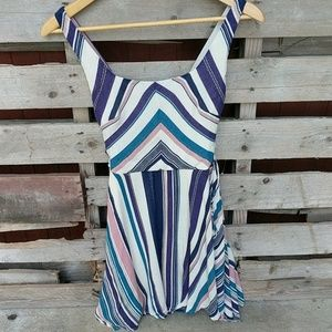 Striped tank dress, size small
